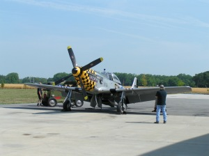 Tom at work (left) keeping an eye on a Mustang engine run.
