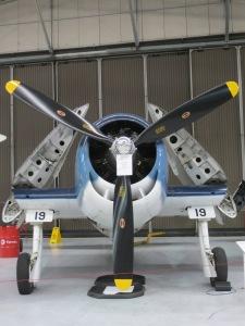 Alex's Hellcat in Hangar 2 at Duxford.