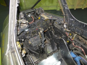 A look in the Cockpit of F.8 WH301 at Hendon.