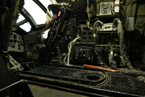 Looking into the cockpit of the Victor.