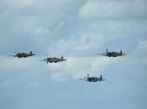 RN201 can be seen leading this four-ship formation at Biggin Hill.