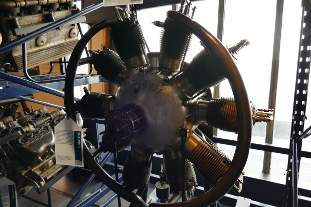 An Anzani radial on display at the Science Museum in London.