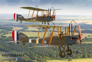 Both of WAHT's BE2s on an air to air flight last year. Thanks to Darren Harbar for this photograph
