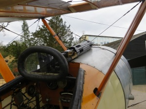 A look through the sights of Sopwith's little scout.