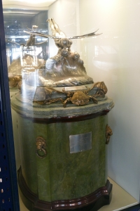 The original trophy, on display at the Science Museum.