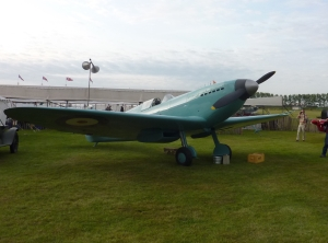 The Tangmere Museum's Spitfire Prototype replica seen here at Goodwood in 2011.