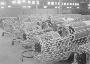 The production line shows off the unique construction of the Wellington design. - Crown Copyright.