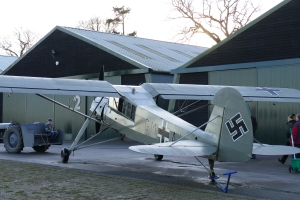 Peter Holloway's Storch at Old Warden.