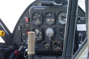The Cockpit of the Storch