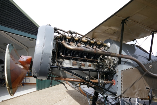 An open cowl look at the Shuttleworth Collection's Bristol Fighter.
