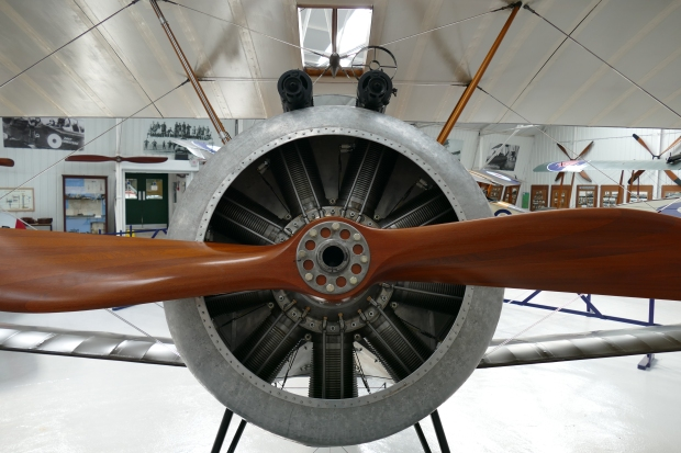 The Shuttleworth Collection's new Sopwith Camel features  a Clerget engine upfront.