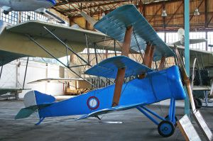 "The ""Unique"" paint job on the second original Triplane."