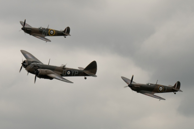 Blenheim and Spitfires