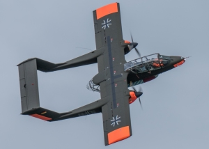 An impressive knife-edge pass from the OV10.