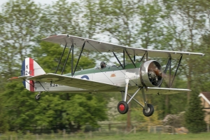 Avro Tutor shortly after take-off.