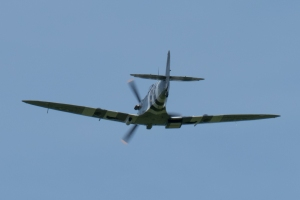 Another look as the Spitfire passes overhead.