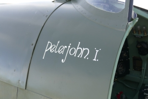 Close up shot of the Spitfire's new name.