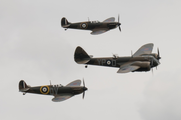 Seen here in formation with the Blenheim.