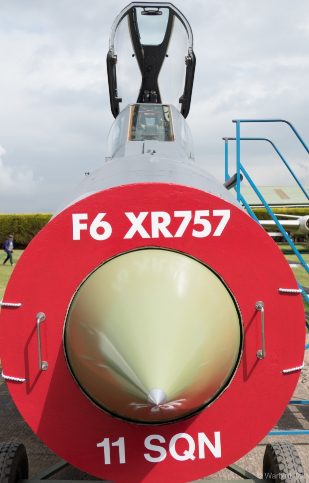 Lightning F.6 XR757 was a popular exhibit with a ladder for access to the cockpit.