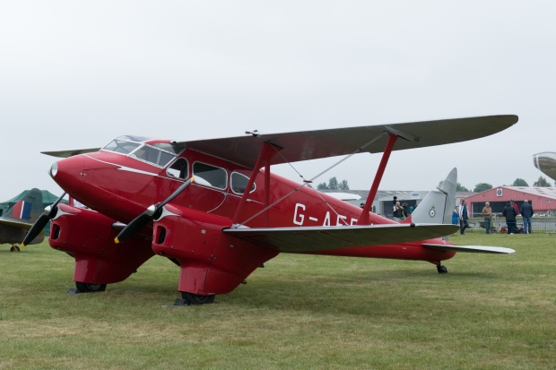 Shipping and Airlines' de Havilland Dragonfly on static display.