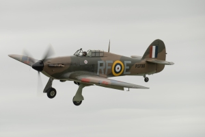 The Historic Aircraft Collection's newly re-painted Hurricane also displayed.