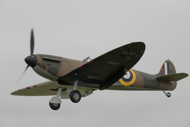 Spitfire N3200 on short finals.