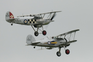 The elegant pairing of Hawker Fury and Gloster Gladiator.