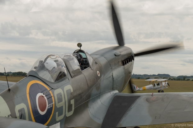 Spitfire MJ627 was busy all afternoon taking passengers up for the flight of a lifetime.
