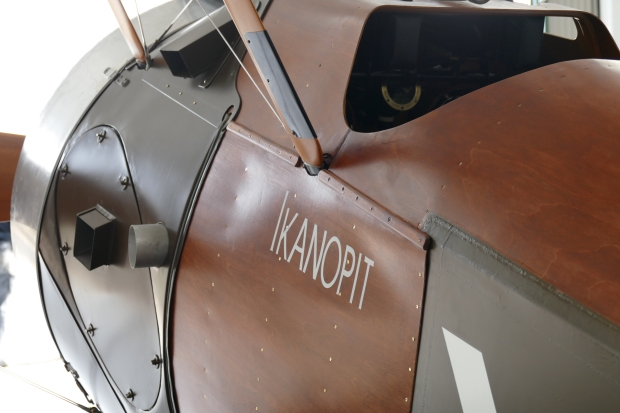 The Ikanopit name written on the side of the aircraft.