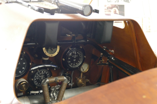 A look into the cockpit of the Camel.