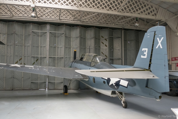With space at a premium, some aircraft, including the Avenger are taking refuge in Hangar 3.