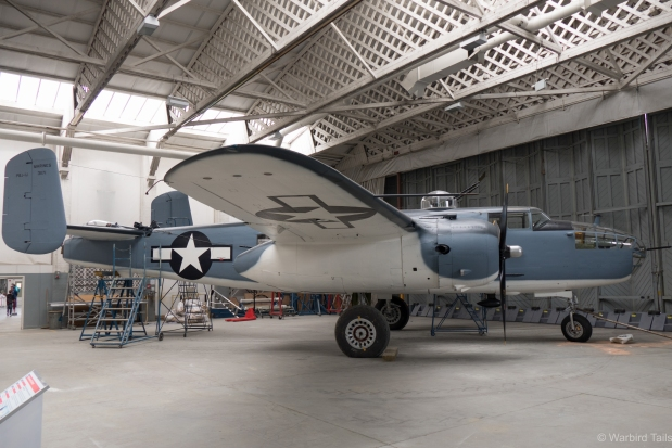 The B-25, which had been wearing these US Navy colours is currently being re-painted into an undisclosed scheme.
