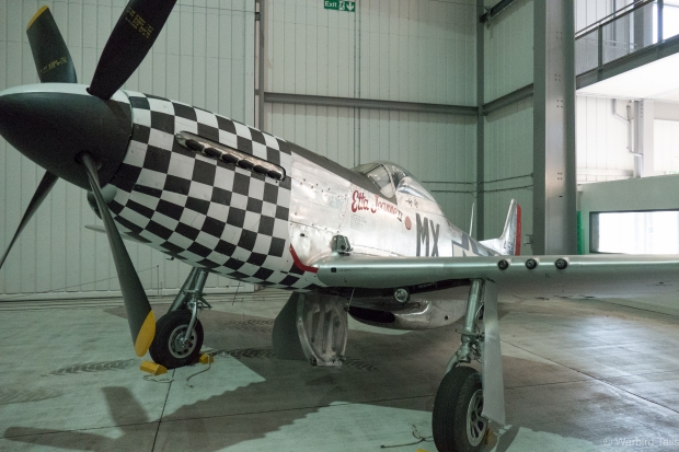 Newly restored P-51D Etta Jeane II was the first airframe to take up residence in the front of Airspace earlier this year.