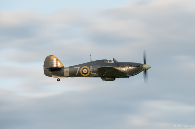 The Hurricane looked great against the evening sky.