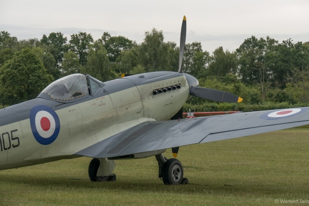 The Seafire making a return to display flying at Shuttleworth in July.
