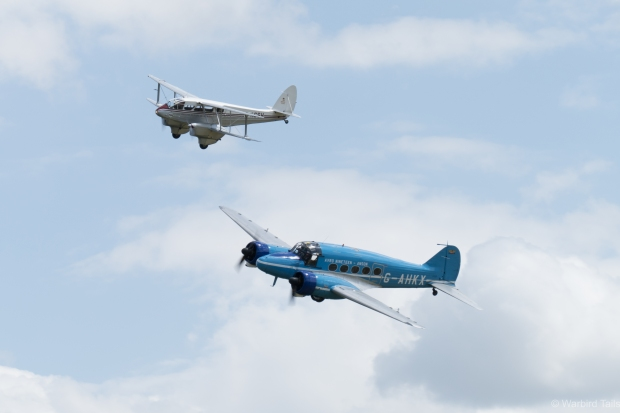 The Avro 19 and Rapide pair during their display.