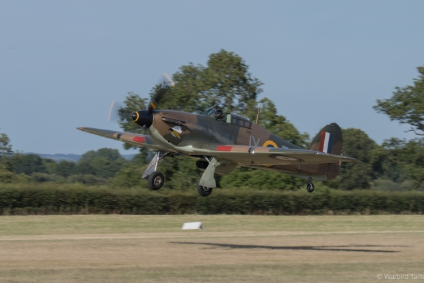 BBMF provided a rare Hurricane two ship routine.