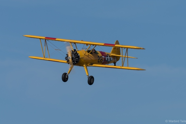 Rob Davies during an impressive display in the Stearman.