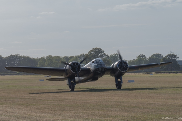 The Blenheim taxiing back after its display.