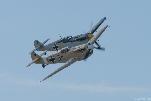 The two 109s showed off their usual close formation routine.