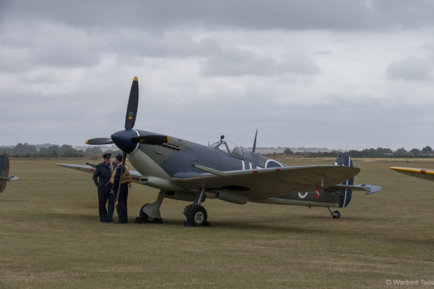 The Seafire certainly looked the part on the flightline earlier in the day.
