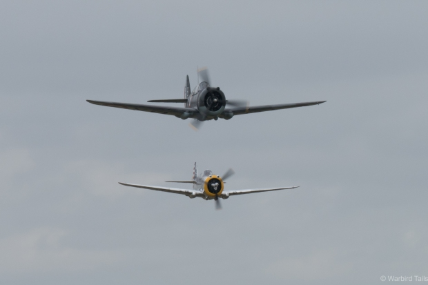 Surely the first pairing of H75 and P-36 since the war. Incredible!