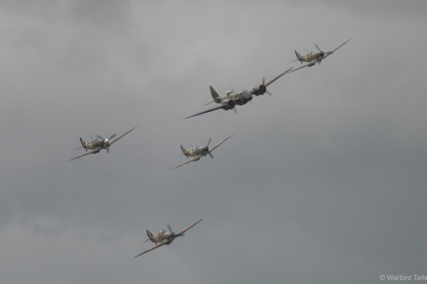 The excellent early war formation, led by the Blenheim.