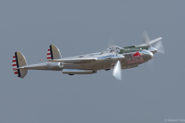 It was a joy to see the Red Bull P-38 over Duxford again.