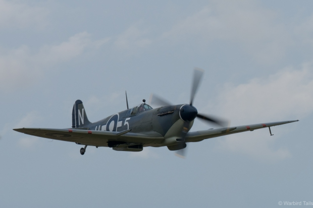 The Seafire III gets airborne prior to the Spitfire segment.