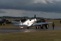 The sun sets as the P-36C is put to bed after a busy weekend.