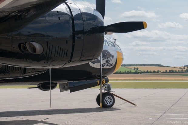 The B-29 out on the jet pan at Duxford.