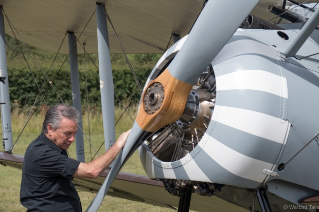 Gene De Marco and the Vintage Aviator Limited's Sopwith Snipe were a highlight of the day.