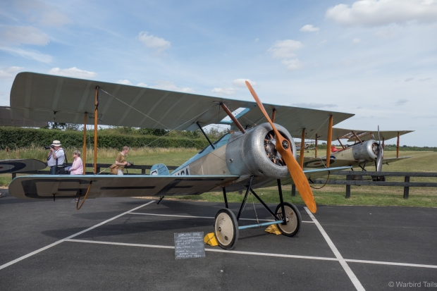 The static display featured an impressive gathering of four Sopwith types. Seen here are the Dove and Pup.