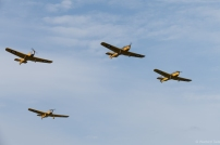 The Magister four ship passing overhead.